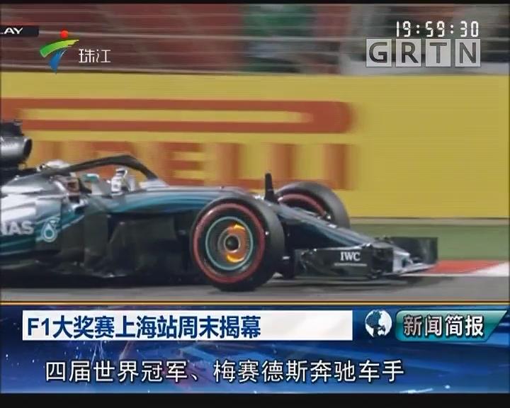 F1大奖赛上海站周末揭幕