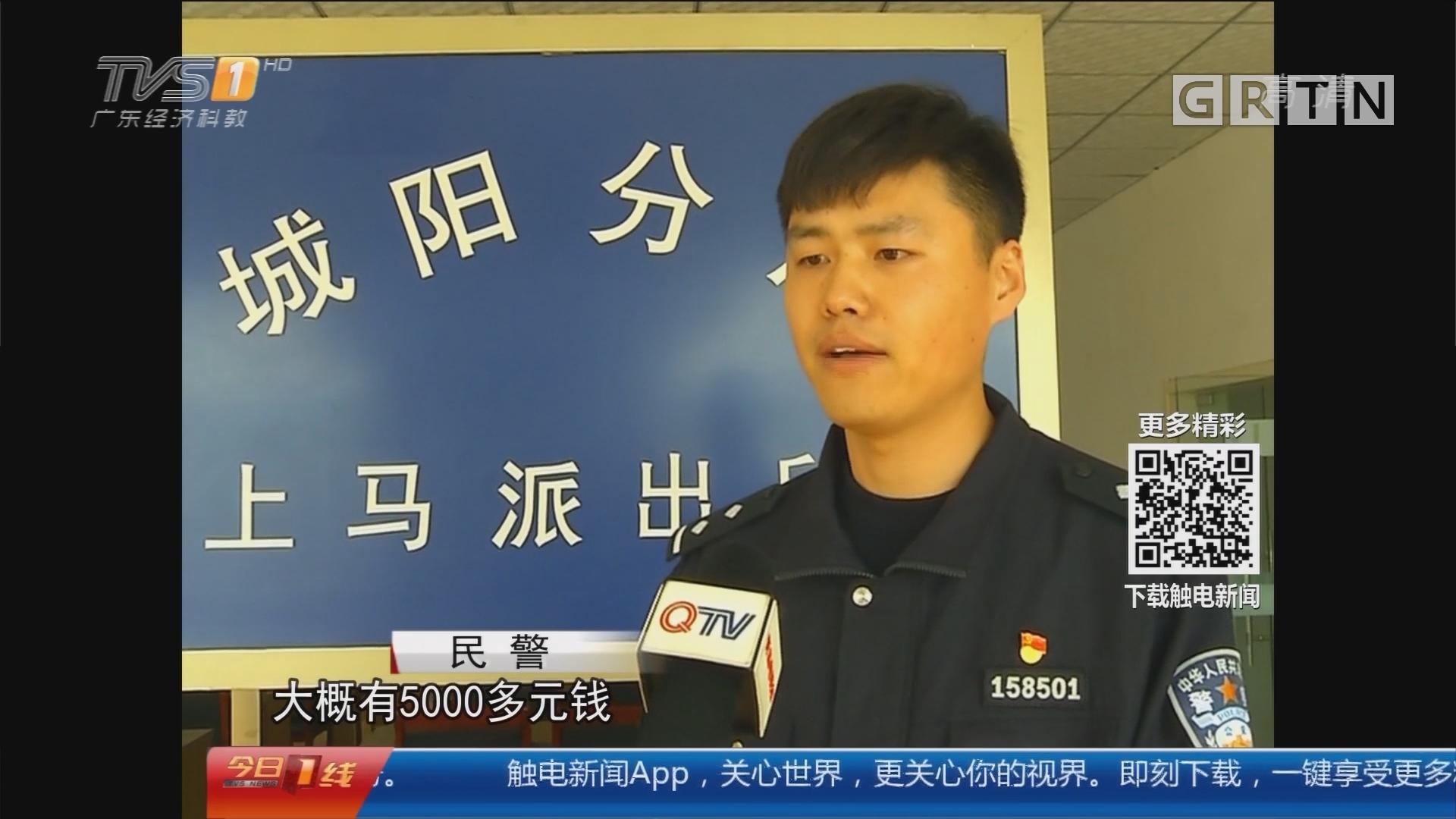 """青岛:监控拍下神奇一幕 轿车被风""""吹走了"""""""