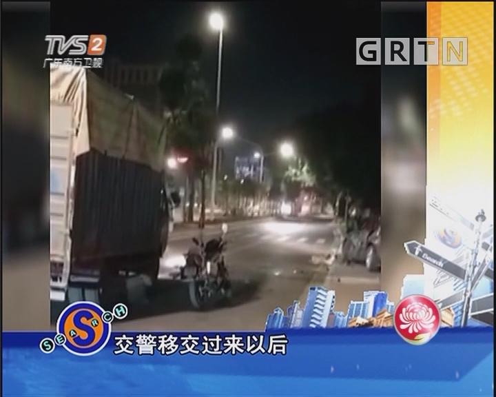 小摩擦大火气 货车连撞小车