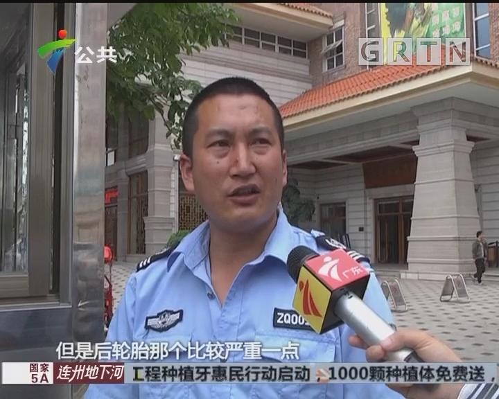 中山:面包车遇查撞警车 两辅警受伤