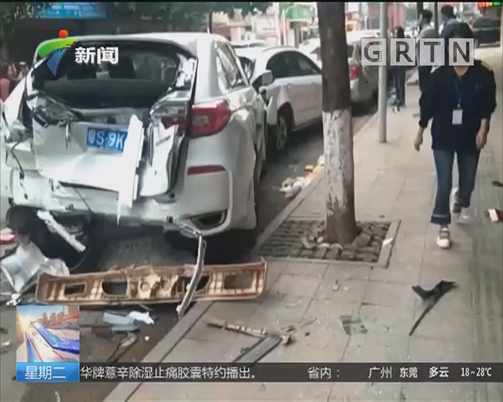 东莞:货车司机疲劳驾 6车遭连环撞