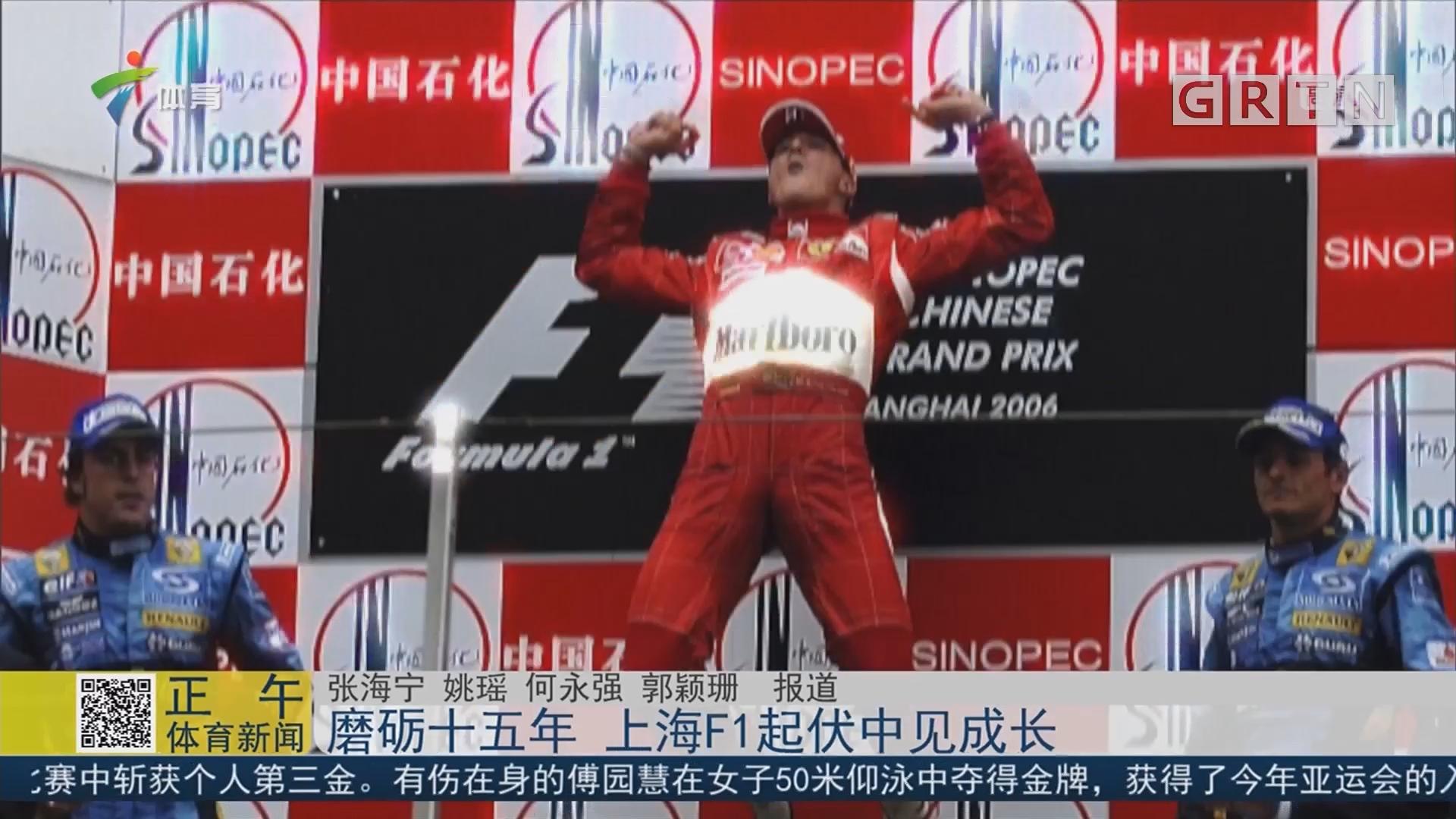 磨砺十五年 上海F1起伏中见成长