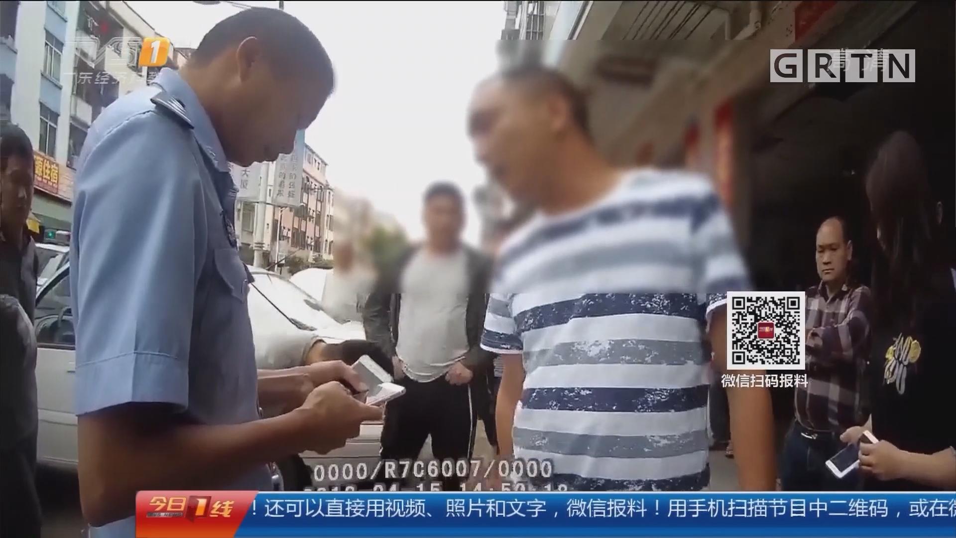 东莞桥头:醉猫肇事跟民警耍横 踢门拆门被拘