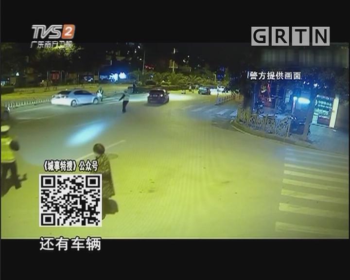 司机酒驾疯狂冲卡 两交警瞬间被撞