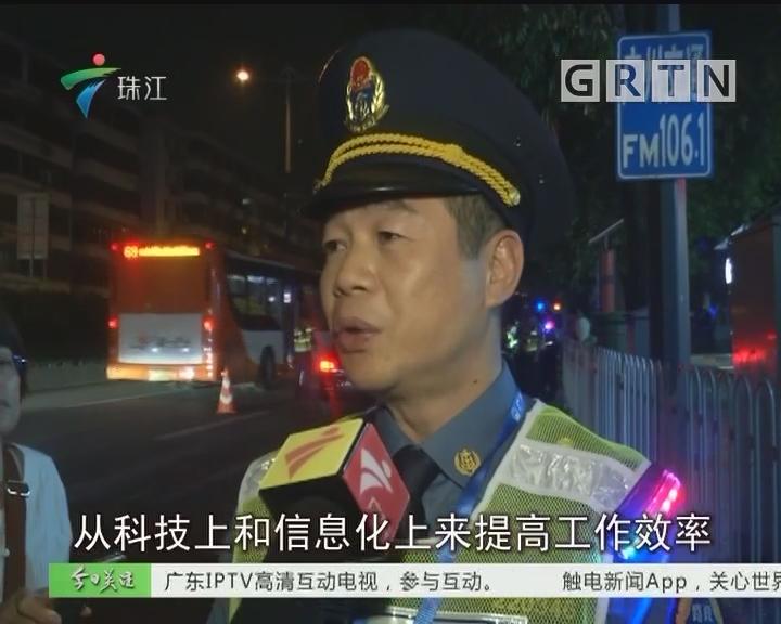 """广州:""""治超""""行动 十分钟查获3辆违法车辆"""