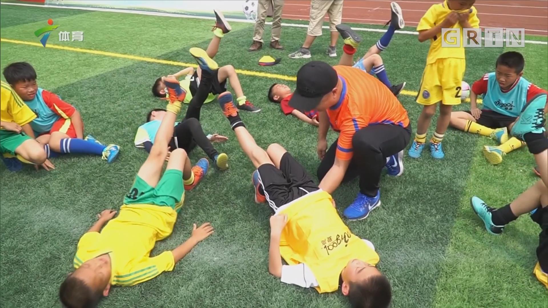 2018 U点我爱足球广东省5人足球公益行到东源县第一小学 推广足球发展