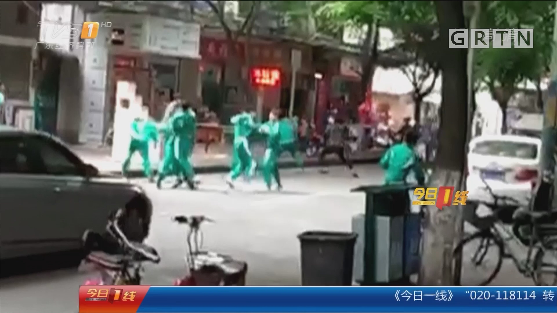 广州花都:街头斗殴 一学生受伤入院