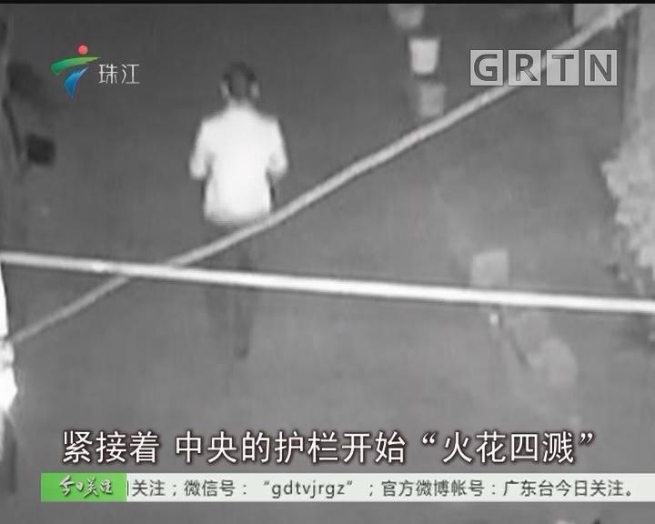 """东莞:切断栏杆过马路 """"爱妻""""狂人被拘留"""