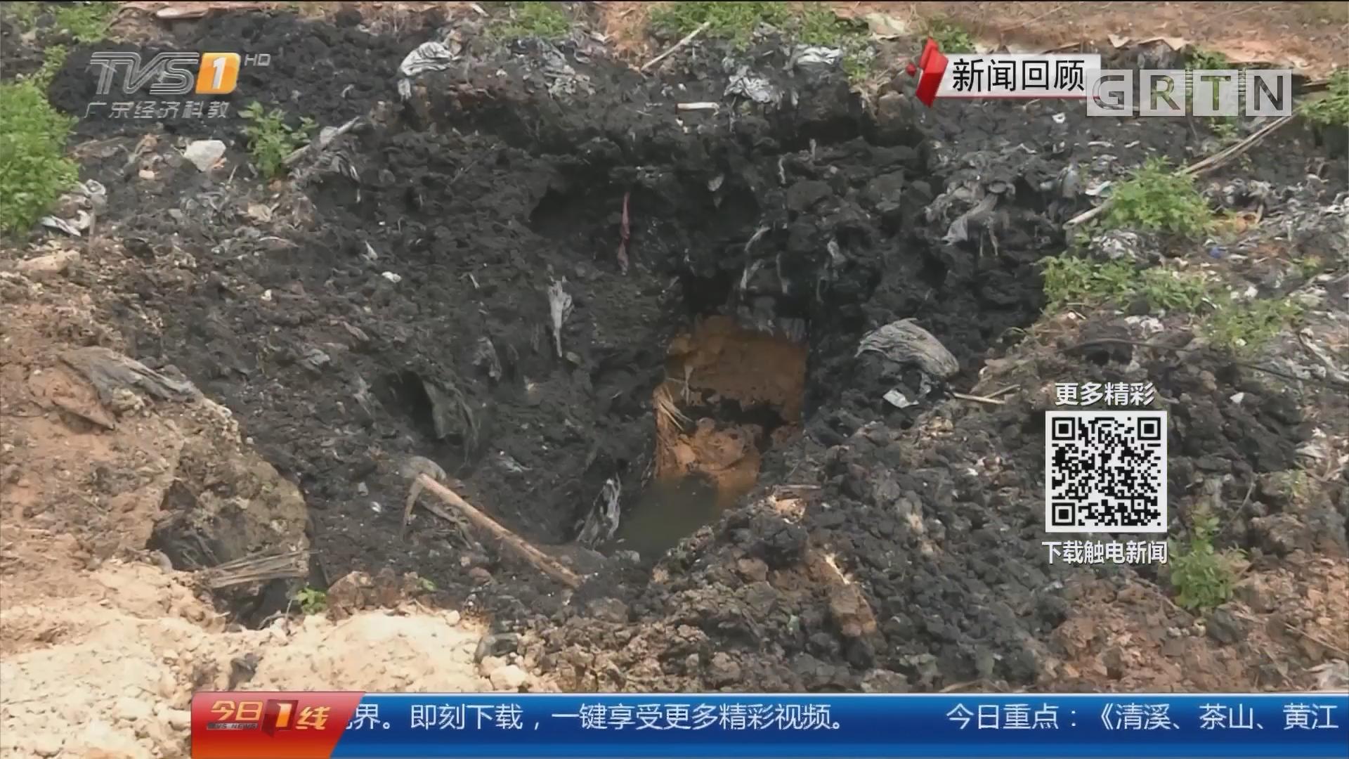 广州增城:菜地如蹦床 地下藏洗漂废弃物