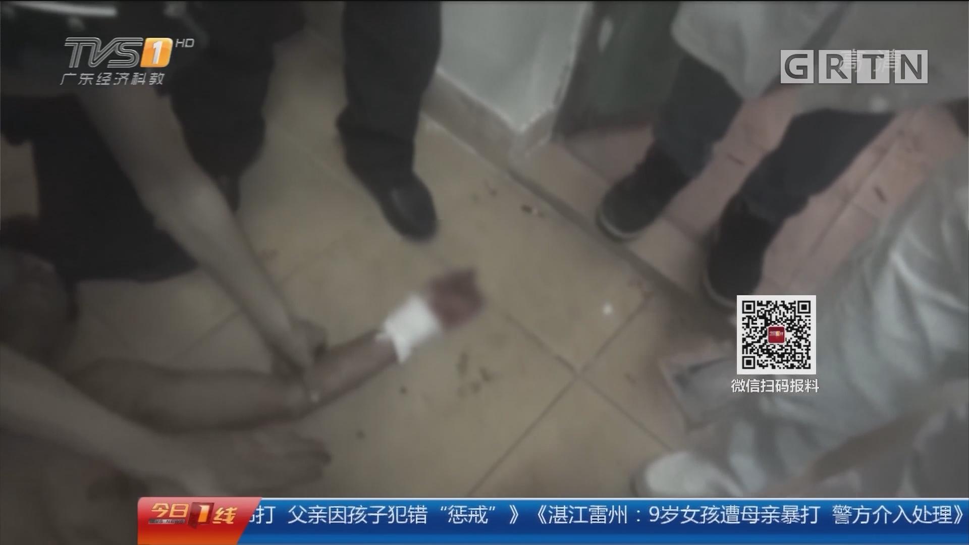 中山东凤:为情割脉刚救下 男子趴地玩手机