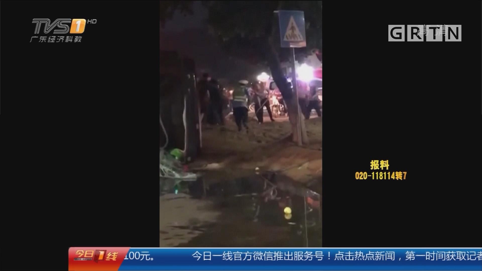 梅州货车侧翻事故追踪:五百市民自发进行悼念活动