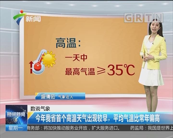 今年我省首个高温天气出现较早,平均气温比常年偏高