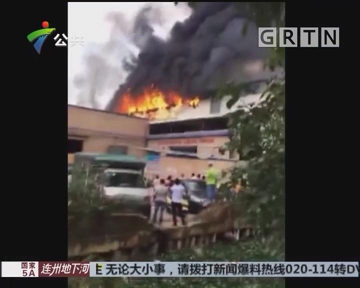 佛山:家具厂突发大火 工人紧急撤离无人受伤