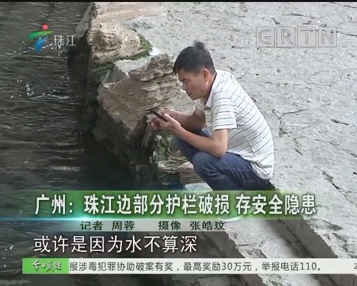 广州:珠江边部分护栏破损 存安全隐患
