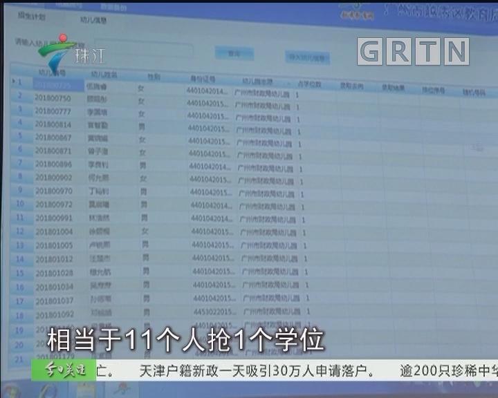 广州越秀区公办幼儿园摇号 4个人争一个位