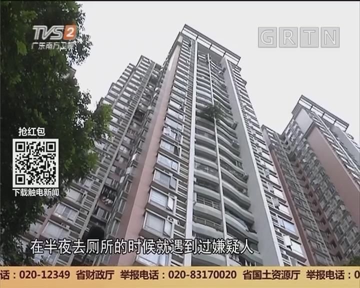 广州荔湾:高层小区失窃 警方抓获飞贼