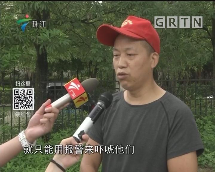 广州:车陂涌现非法电鱼