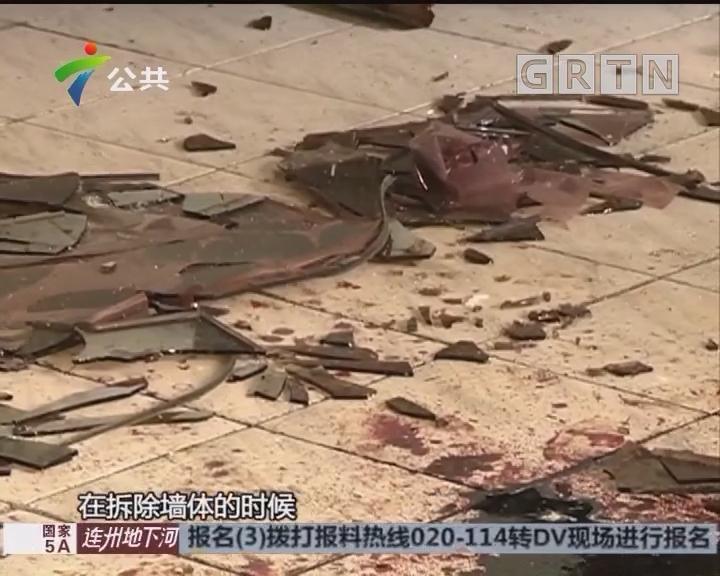 东莞:施工时玻璃掉落 装修工人被砸中