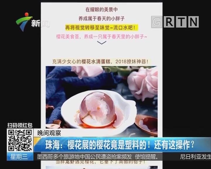 珠海:樱花展的樱花竟是塑料的!还有这操作?