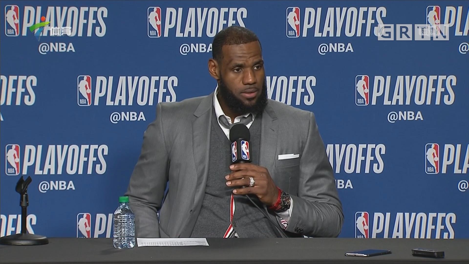 詹姆斯:这是一场全面的团队胜利