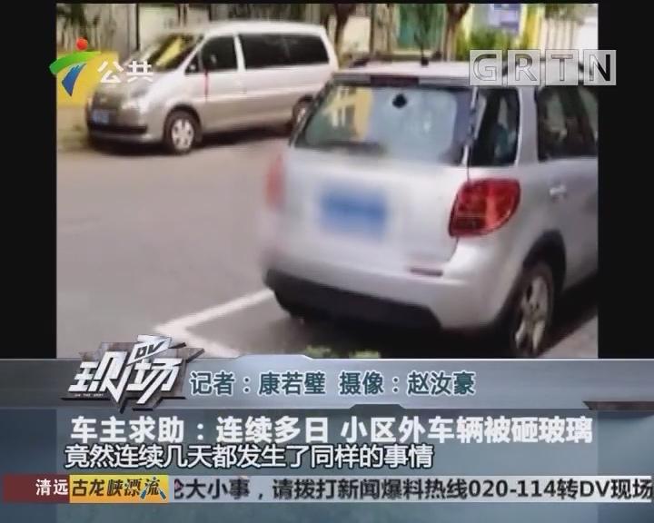 车主求助:连续多日 小区外车辆被砸玻璃