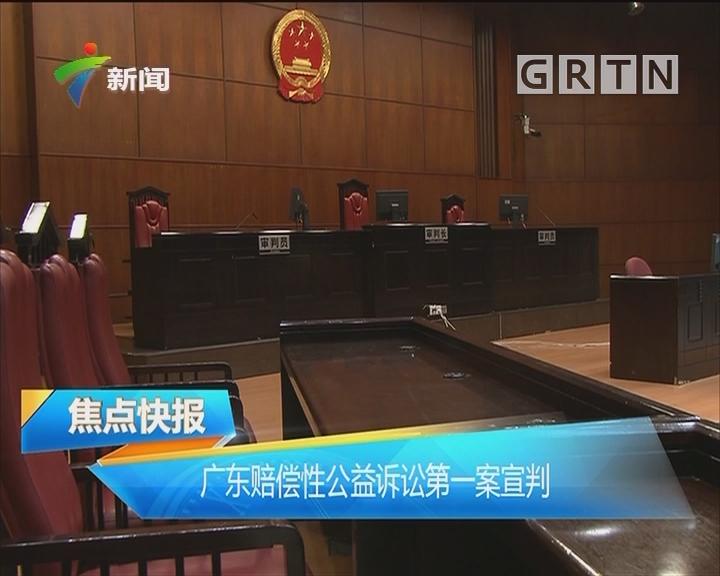 广东赔偿性公益诉讼第一案宣判