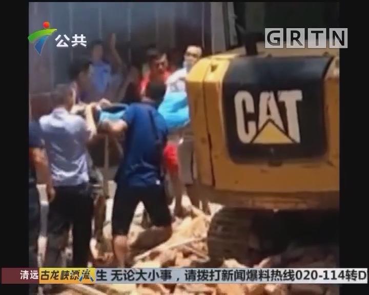 肇庆:旧屋施工倒塌 有工人被困