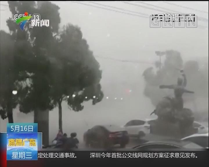 湖北黄冈:恶劣天气致城区受灾 抢修正进行