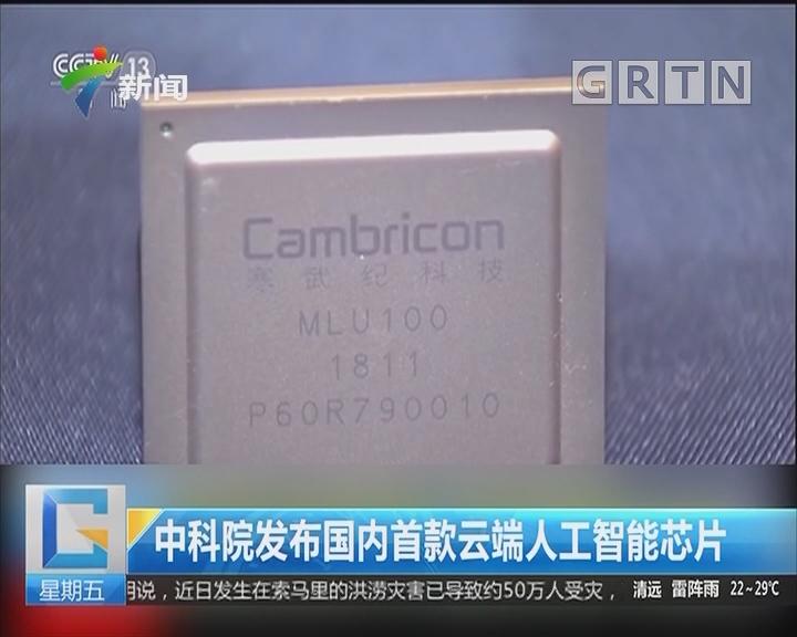 中科院发布国内首款云端人工智能芯片