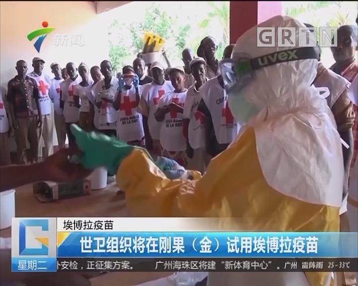 埃博拉疫苗:世卫组织将在刚果(金)试用埃博拉疫苗