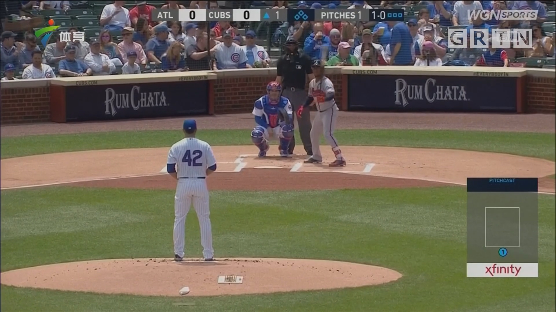 MLB 亚特兰大勇士客场战胜芝加哥小熊