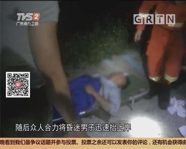 广州:司机被困驾驶位 众人剪断安全带救出