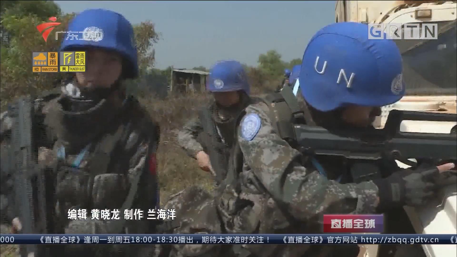 """南苏丹有个中国维和女兵战斗班:绽放在南苏丹的""""蓝玫瑰"""""""