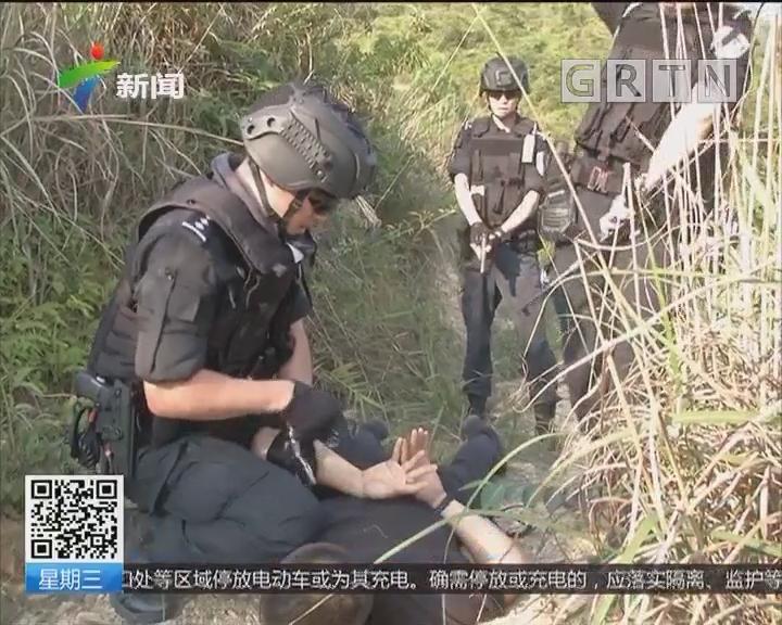 广州:超逼真!广州百余特警大规模野外实战拉练
