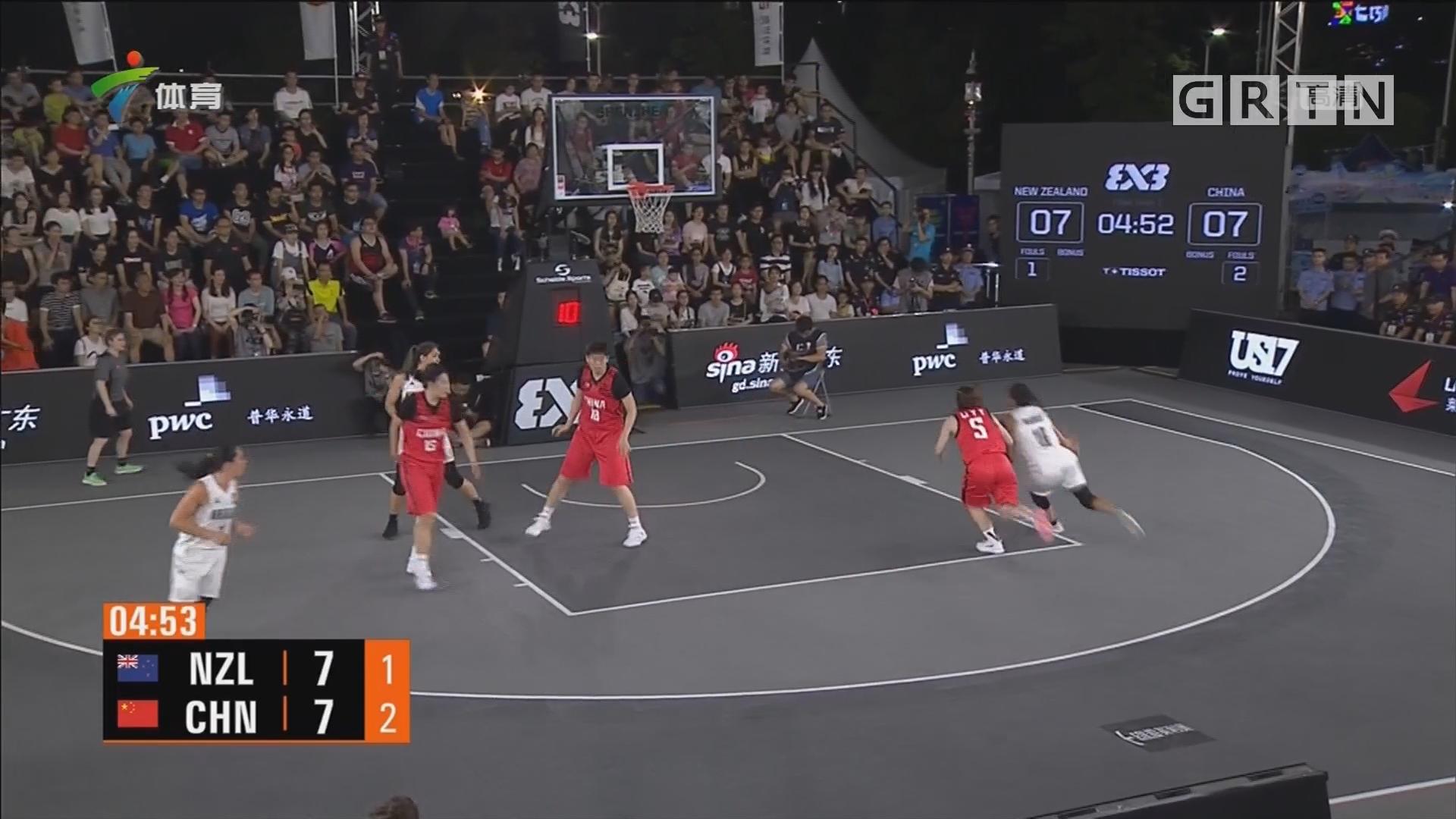 决赛不敌新西兰 中国女子三人篮球获亚军