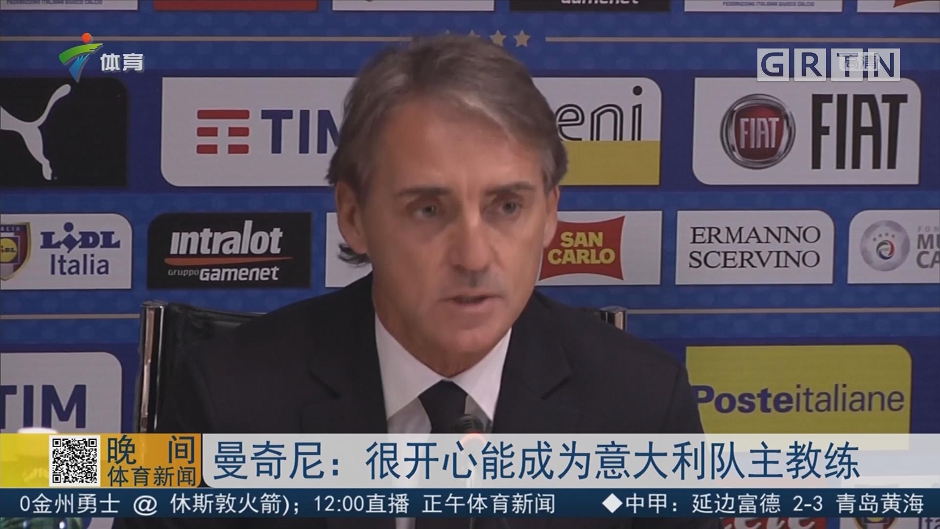 曼奇尼:很开心能成为意大利队主教练