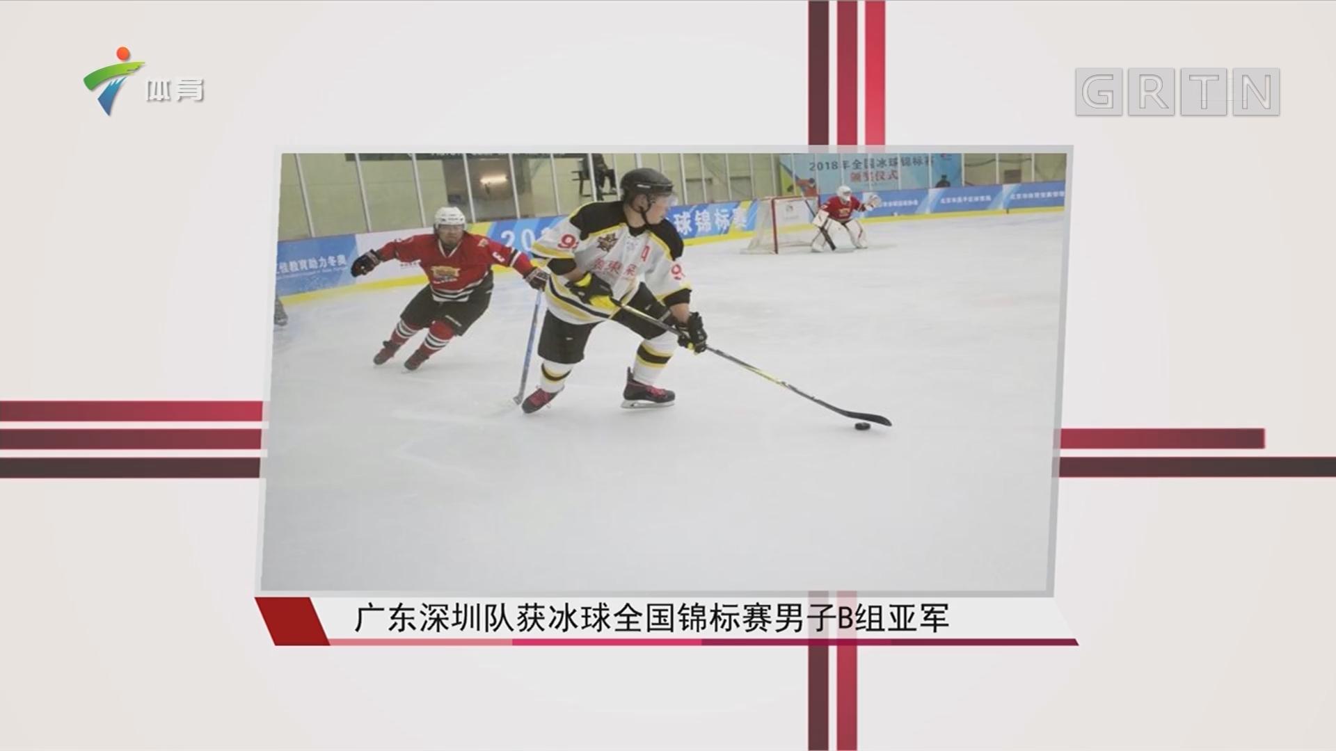 广东深圳队获冰球全国锦标赛男子B组亚军