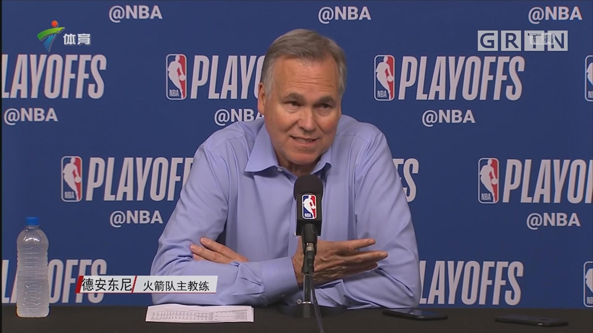 德安东尼:球队关键时刻状态松懈 为此付出了惨痛代价