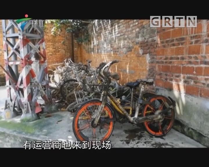 佛山:备战龙舟赛 清理河涌共享单车