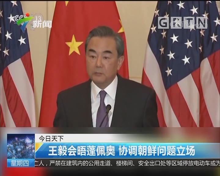 王毅会晤蓬佩奥 协调朝鲜问题立场