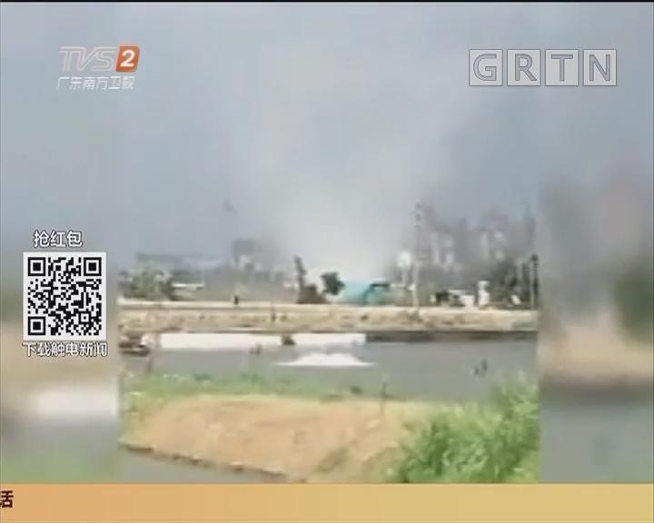 中山:龙卷风来袭 铁皮房顶被掀翻