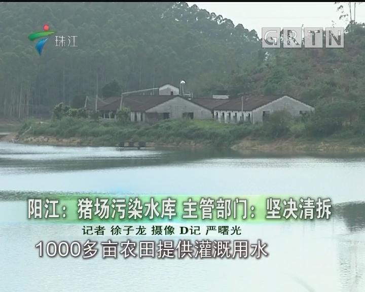 阳江:猪场污染水库 主管部门:坚决清拆