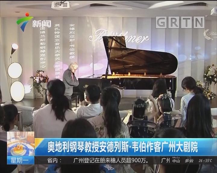 奥地利钢琴教师安德列斯·韦伯作客广州大剧院