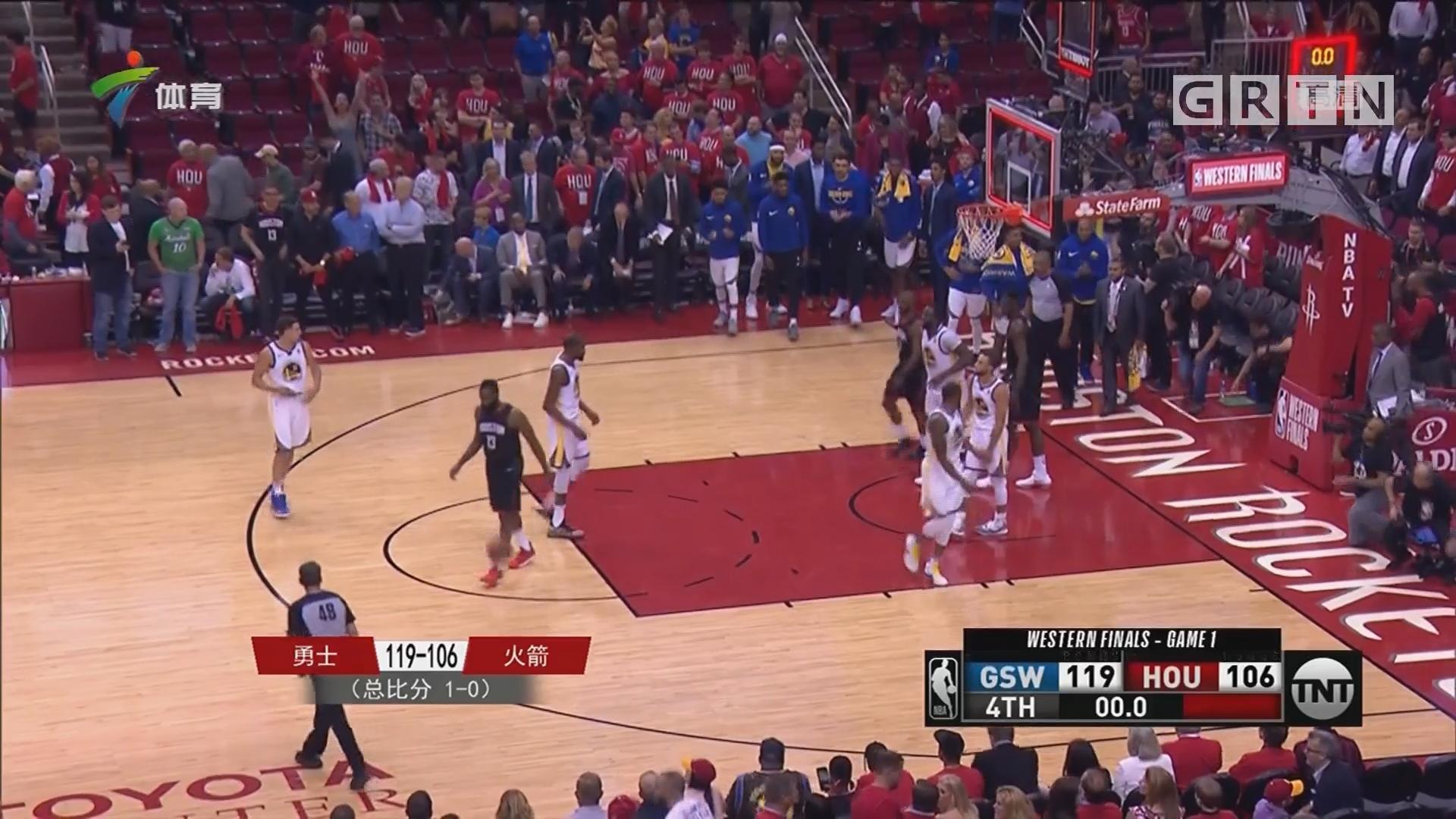 NBA西部决赛 勇士客场先下一城