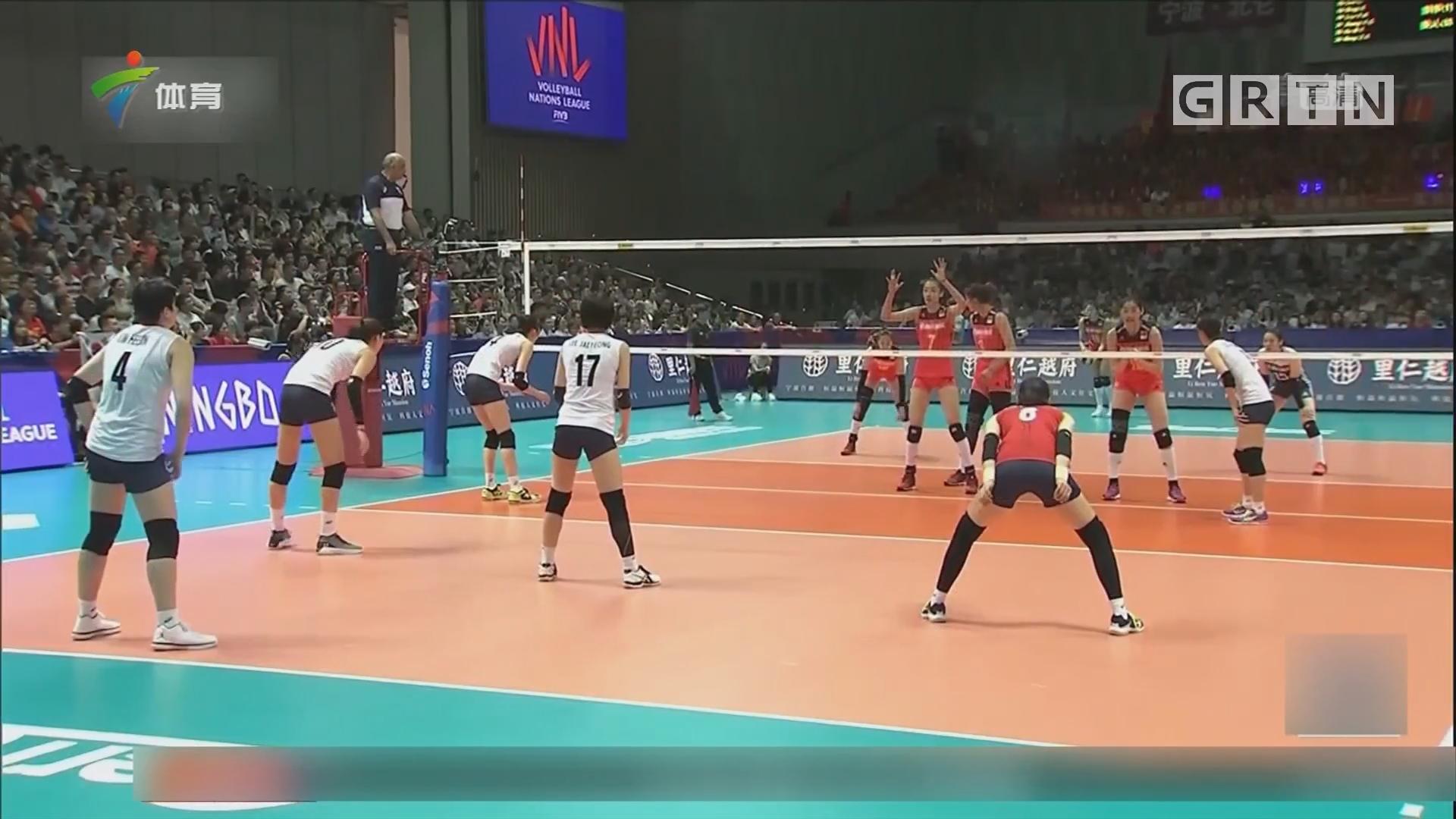 不敌韩国队 中国女排仍需历练