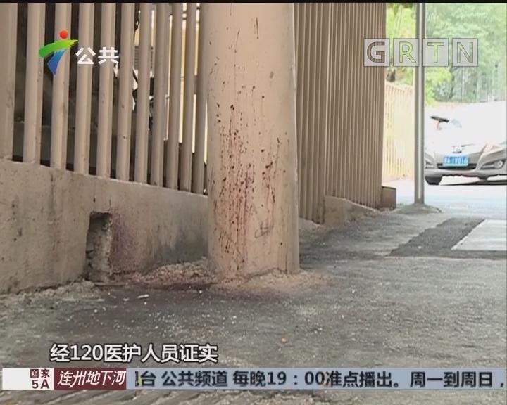 广州警方抓获一名持刀伤害他人男子