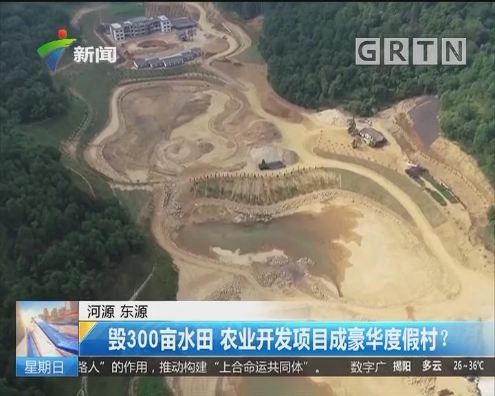 河源 东源:毁300亩水田 农业开发项目成豪华度假村?
