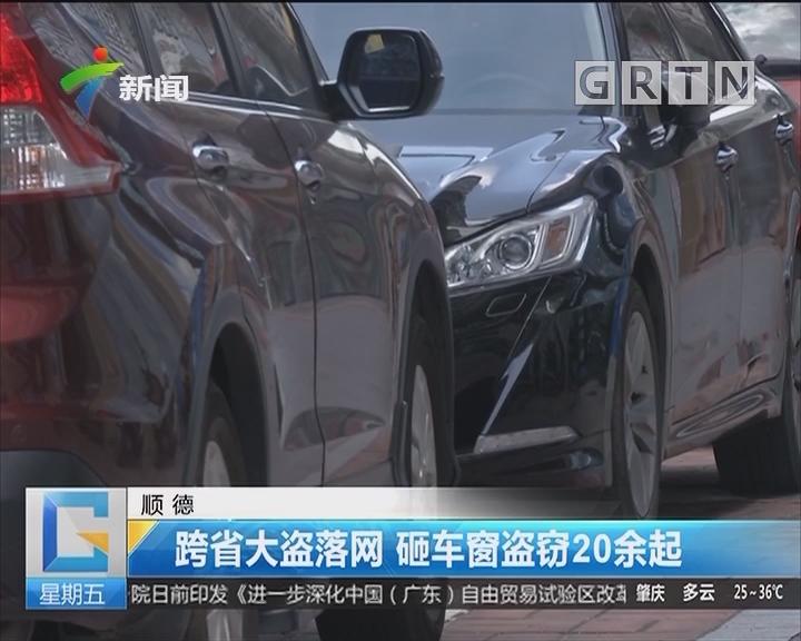 顺德:跨省大盗落网 砸车窗盗窃20余起