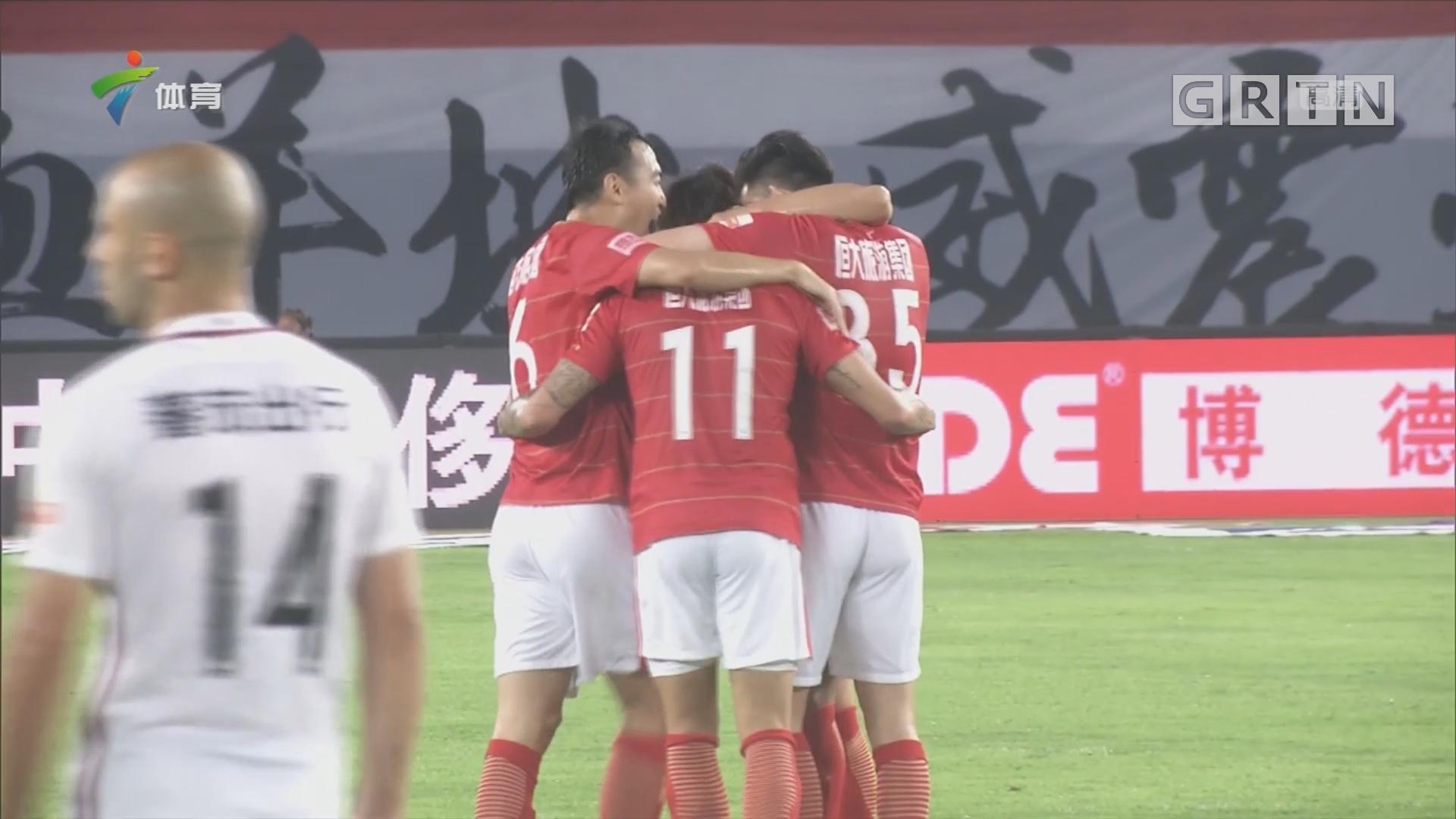 记者现场连线:广州恒大淘宝vs天津权健