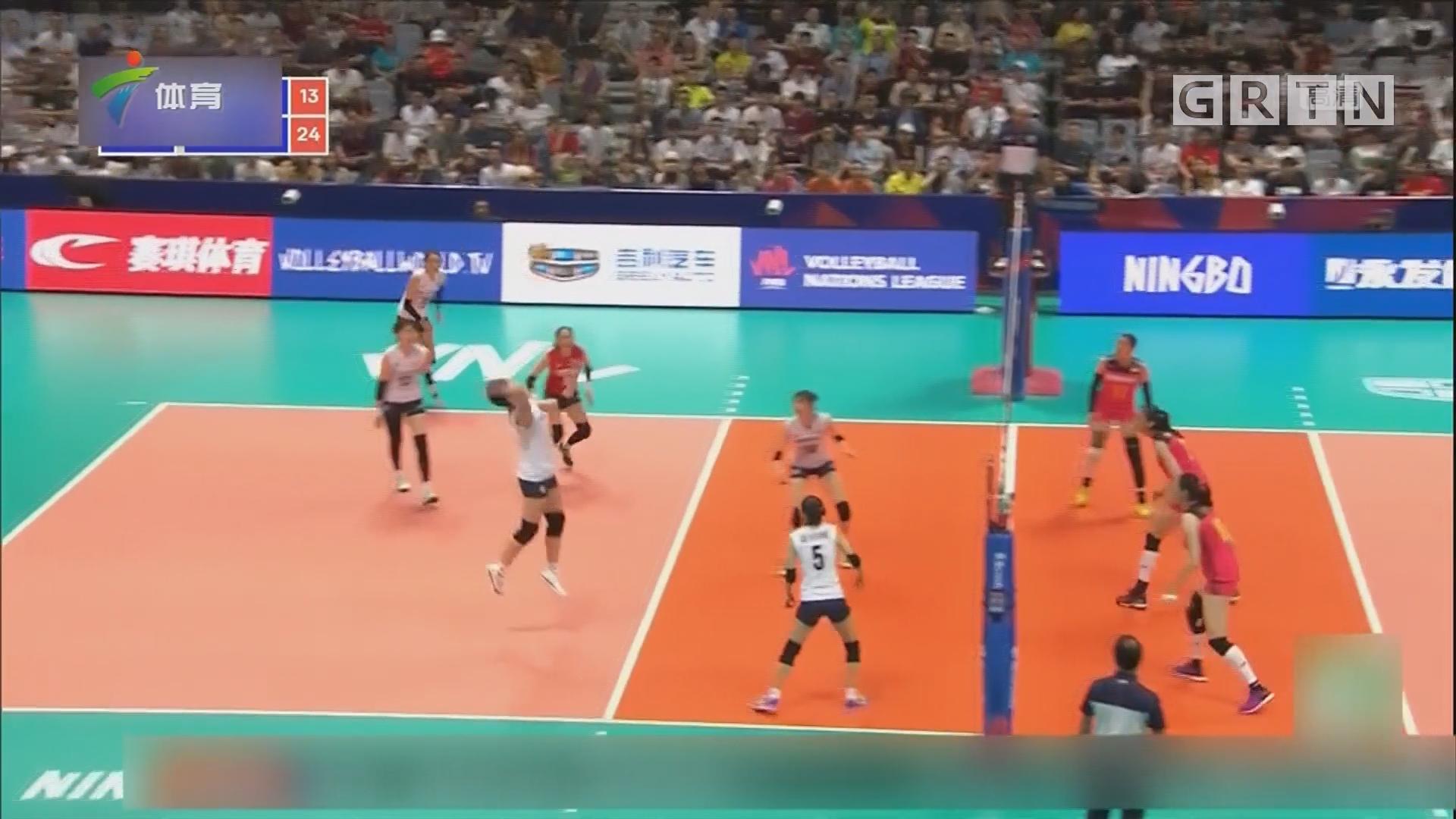 一传不力 中国女排遭韩国队横扫